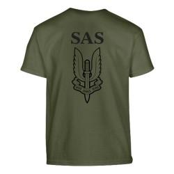 Laste lühikese käisega T-särk SAS - Who dares, Wins - oliivroheline