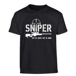 """Laste lühikese käisega T-särk """"Sniper"""", must"""