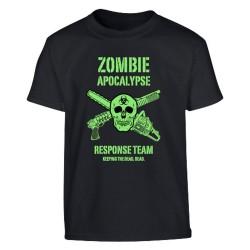 "Kids short sleeve T-shirt - ""Zombie Apocalypse"", black"