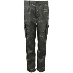 Laste militaarstiilis püksid, BTP black camo