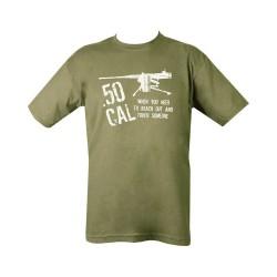 "T-shirt - ""50 cal"", olive green"