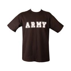 "T-shirt - ""Army"", black"
