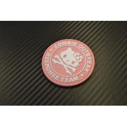 "Velcro märk ""Zombie Outbreak"" 3D, roosa"