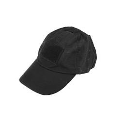 Tactical cap, nokamüts takjakinnitustega, must