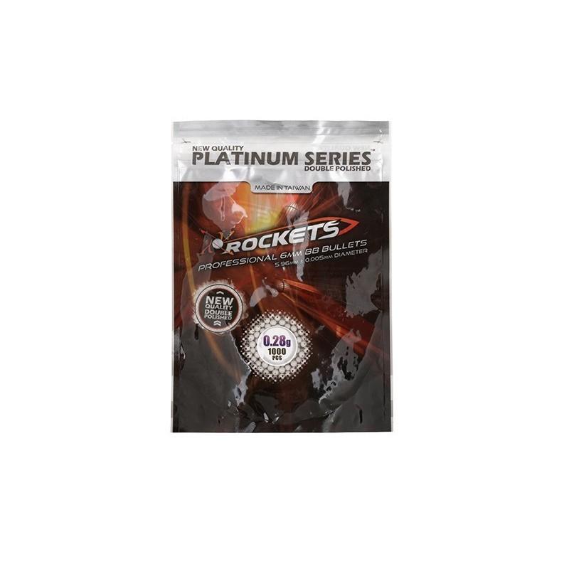 Rockets Platinum Series 0,28g BB pellets - 1000tk