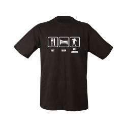"T-shirt - ""Eat, Sleep, Kill Zombies"", black"