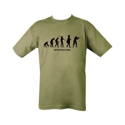 "T-särk - ""Evolution"", oliivroheline"