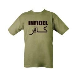 "T-shirt - ""Infidel"", olive green"