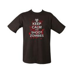 "T-shirt - ""Keep Calm & Shoot Zombies"", black"