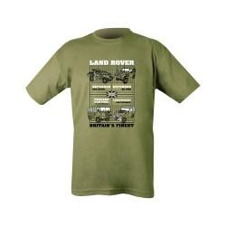 "Футболка - ""Land Rovers"", оливково-зеленый"