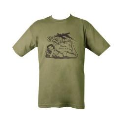 "T-shirt - ""Miss Behavin"", olive green"