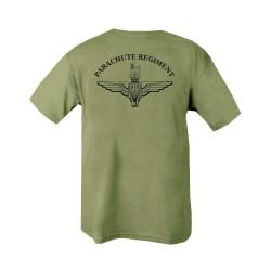 "T-shirt - ""Parachute Regiment"", olive green"
