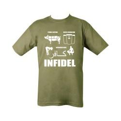 "T-shirt - ""Pork (Infidel)"", olive green"