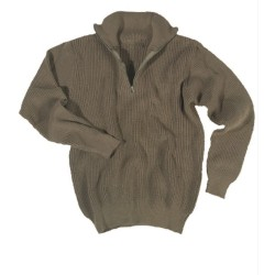 Mil-Tec свитер, Troyer, зеленый