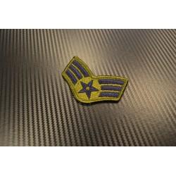 "Riidest embleem, ""(ABU) SRA Senior Airman"""