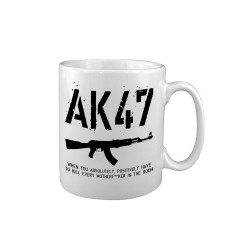 Ceramic mug AK47, white