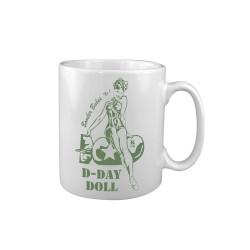 "Ceramic mug ""D-Day Doll"", white"