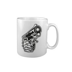 "Keraamiline kruus ""Hand Gun"", valge"