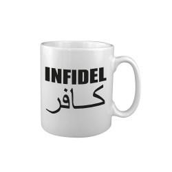 "Ceramic mug ""Infidel"", white"