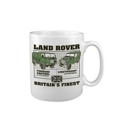 "Keraamiline kruus ""Land Rover - Air Portable"", valge"