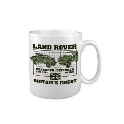 "Keraamiline kruus ""Land Rover - Defender"", valge"