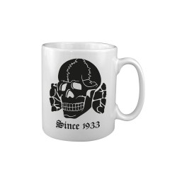 "Ceramic mug ""Scull Since 1933"", white"