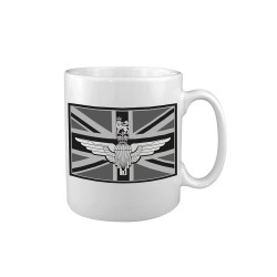 "Ceramic mug ""Parachute Reg / Union Jack"", white"