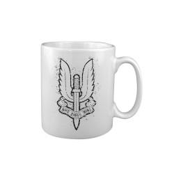 "Ceramic mug ""SAS"", white"