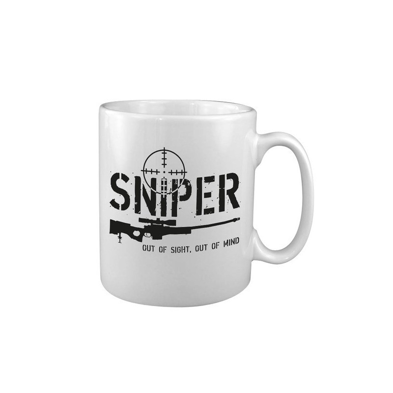 """Keraamiline kruus """"Sniper"""", valge"""