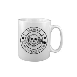 """Keraamiline kruus """"Taliban Hunting Club"""", valge"""