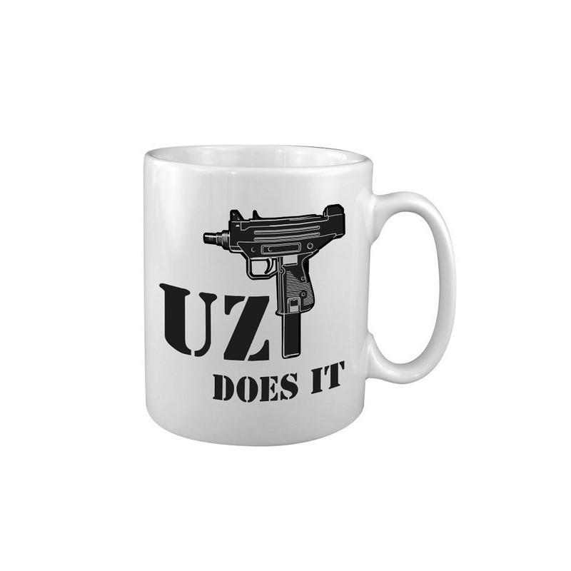 """Keraamiline kruus """"Uzi Does It"""", valge"""