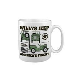 """Keraamiline kruus """"Willys Jeep"""", valge"""