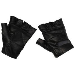 Кожаные перчатки Deluxe, черный, без пальцев