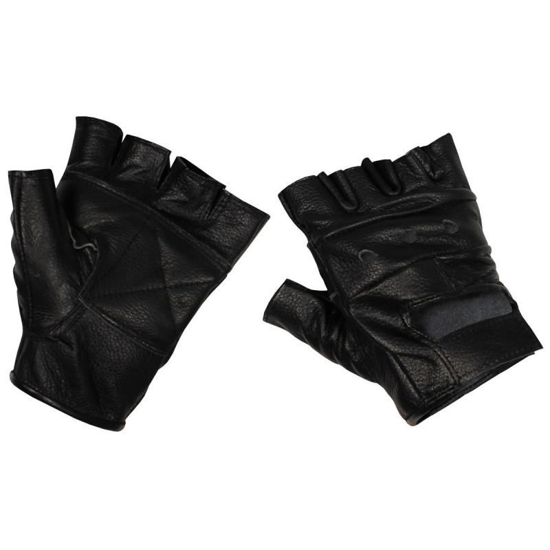 Leather Gloves Deluxe, , black, fingerless