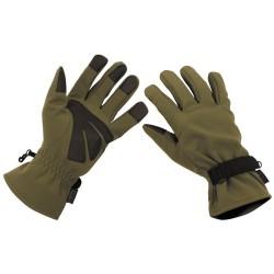 Tactical Softshell перчатки, оливково-зеленый