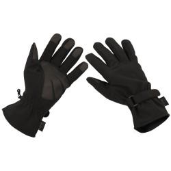 Tactical light softshell gloves, black
