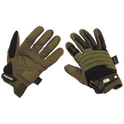 Тактические перчатки «Операция», OD зеленый / черный