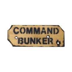 """Знак """"Command Bunker"""""""
