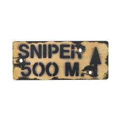 """Знак """"Sniper 500m"""""""