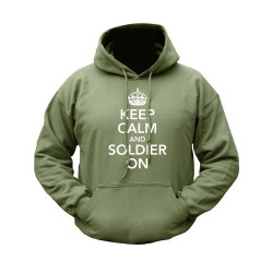 "Pusa ""Keep Calm & Soldier On"", oliivroheline"