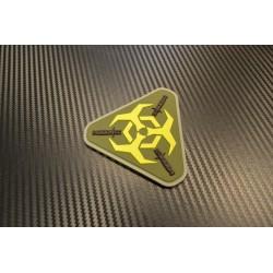 "Velcro märk ""OUTBREAK RESPONSE"", roheline/kollane"
