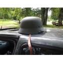 German steel Helmet, WW II, OD green, leather lining