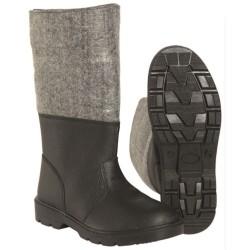 Mil-tec Boots, холодная погода, черный / серый, кожа / войлок