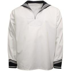 Bundeswehr Navy shirt, white/blue