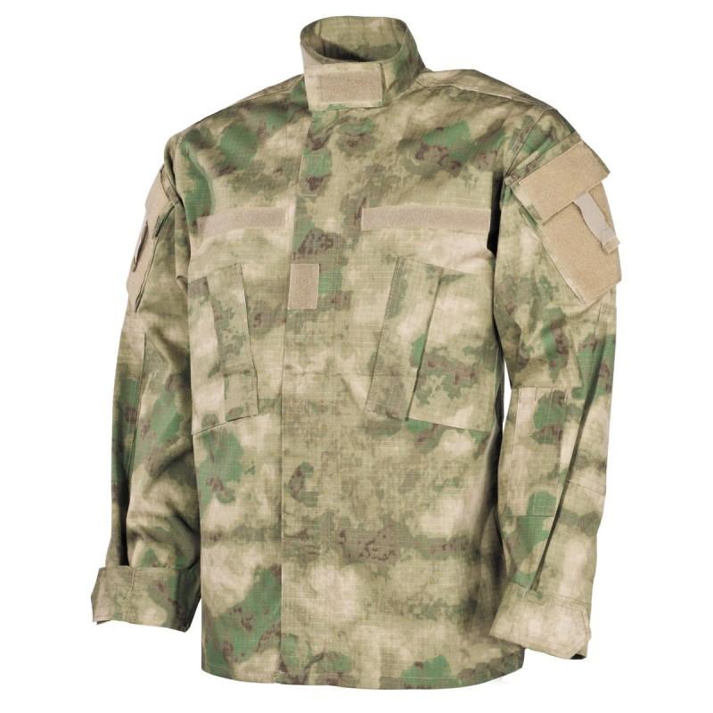 US Field Jacket ACU, Rip Stop, HDT camo green