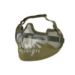 CS kaitsev poolmask V2, suur, oliivroheline/pealuu