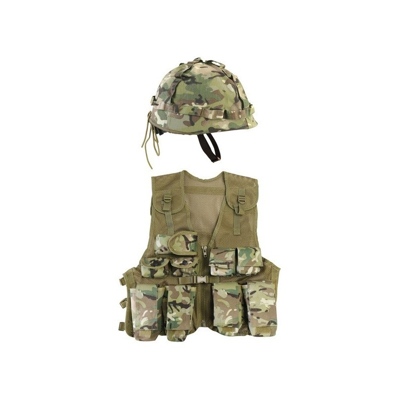 Kombat laste Assault vesti ja kiivri komplekt, BTP camo