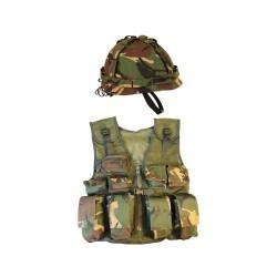 Kombat laste Assault vesti ja kiivri komplekt, DPM camo