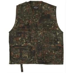 Hunting and fishing vest, flecktarn