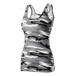 Adler women camouflage top, Triumph, camo gray